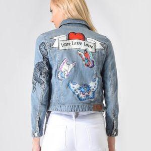 Zadig & Voltaire patch denim jacket